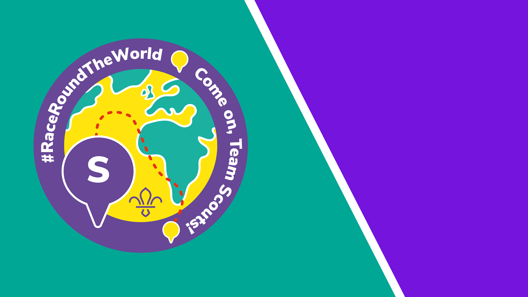 Race Round The World Zoom background - Team Scouts