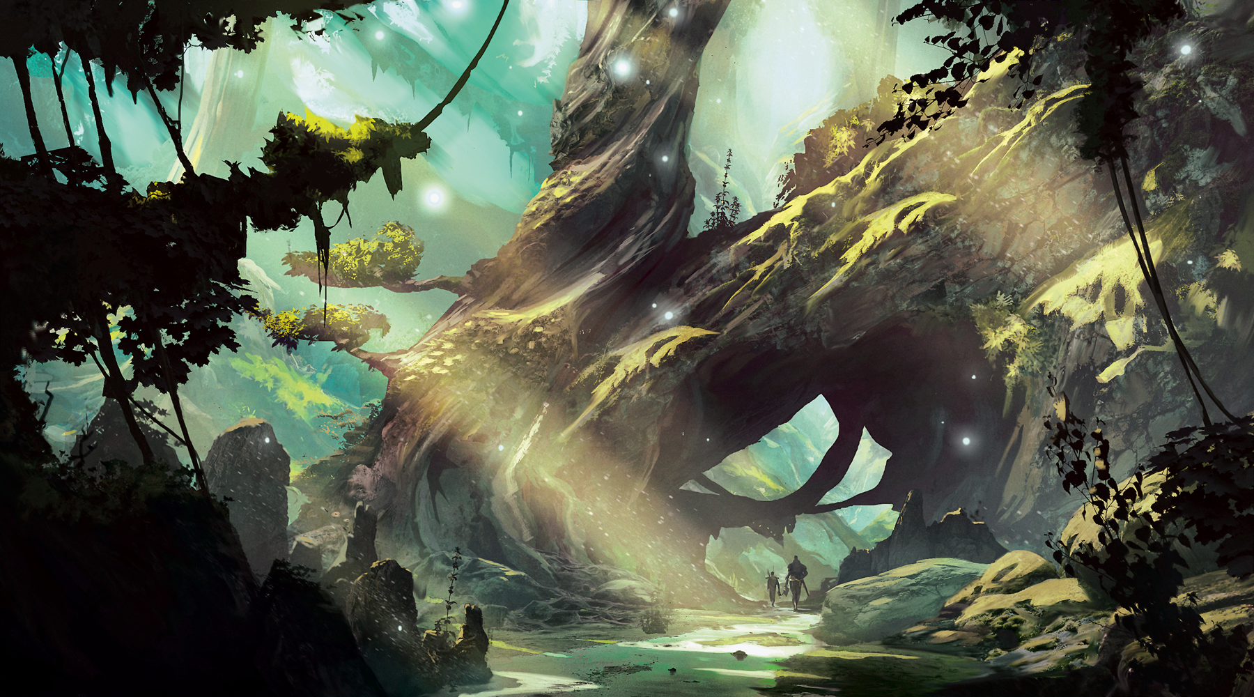 An image of a Dungeons and Dragons forest landscape