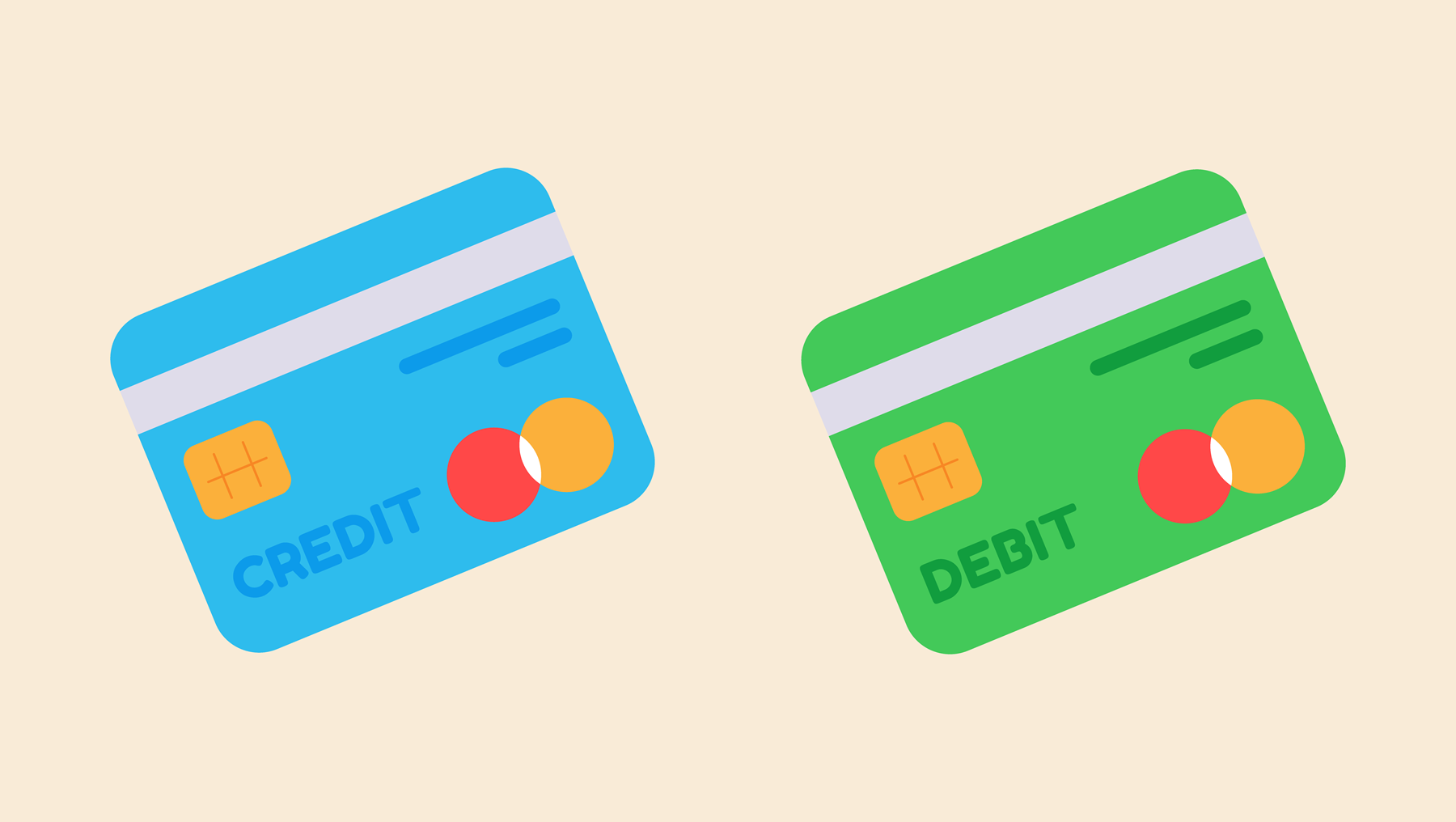 An illustration of a credit and debit card.