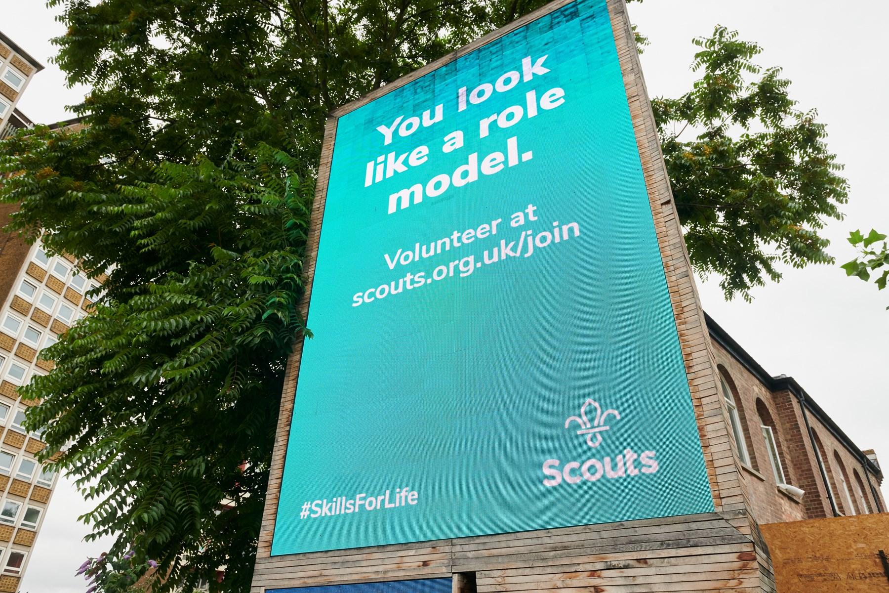 Scouts volunteer billboard