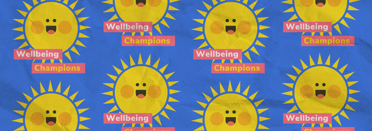 Wellbeing Champions Background Crinkle Effect