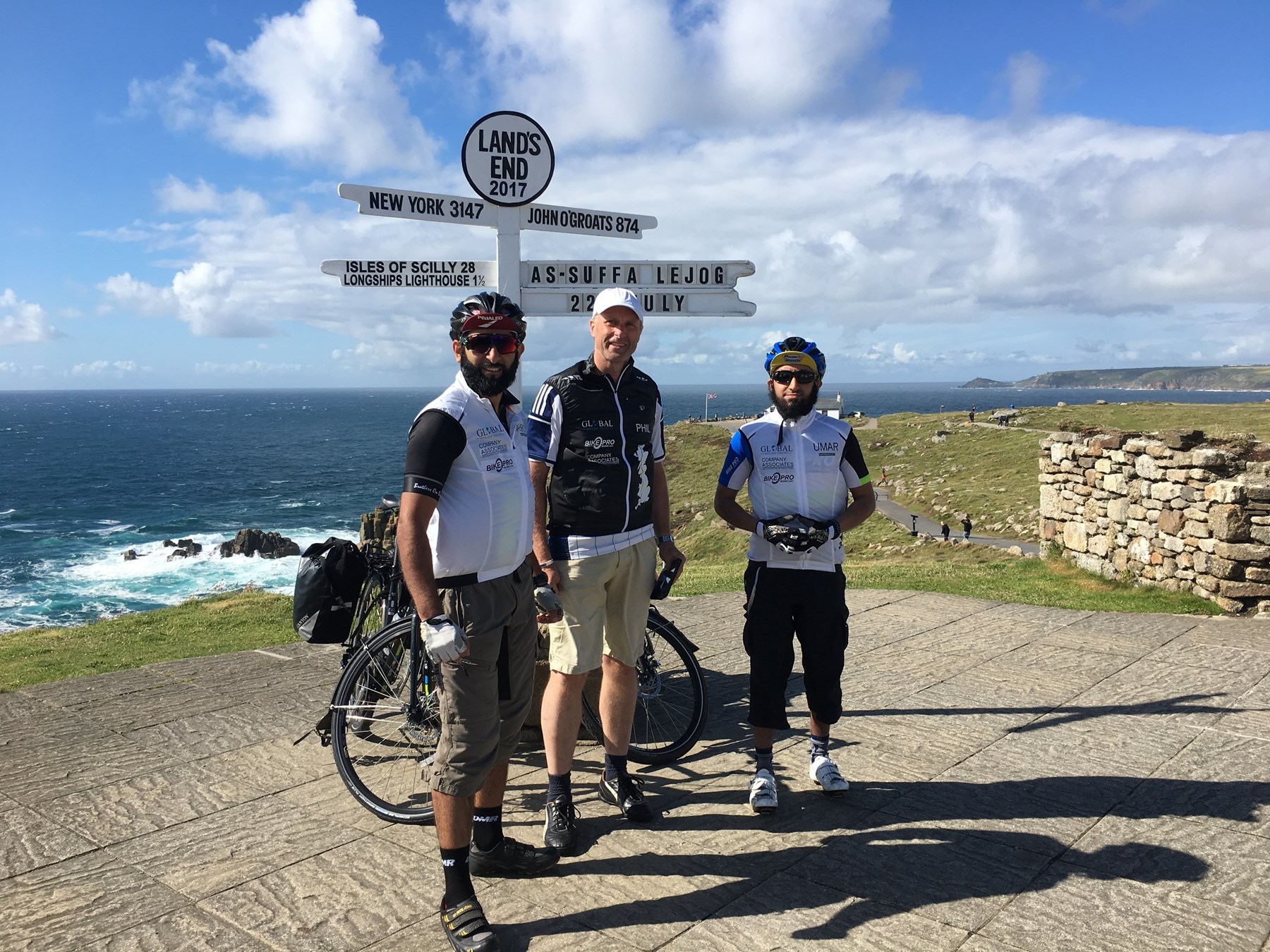 Mahroof Malik at Land's End with friends